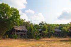 Деревянные здания, Вьетнам стоковая фотография
