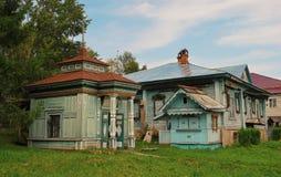 Деревянные здания XIX век Стоковые Изображения RF