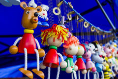 Деревянные игрушки keychains Стоковое Фото