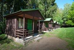 Деревянные кабины Стоковая Фотография