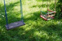 Деревянные качания Стоковые Фотографии RF