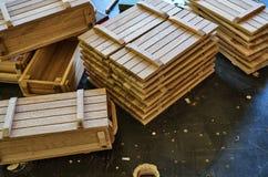 Деревянные клети для малых вещей Стоковые Изображения RF