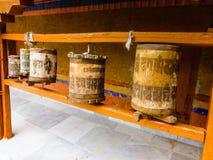 Деревянные колеса молитве Стоковые Изображения RF
