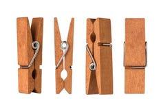 Деревянные колышки ткани Стоковое Изображение RF
