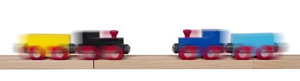 Деревянные концепции железных дорог Стоковое Изображение RF
