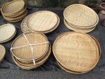 Деревянные корзины Стоковая Фотография