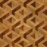 Деревянные коробки партера штабелированные для безшовной предпосылки Стоковая Фотография
