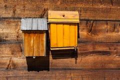 Деревянные коробки почты Стоковые Изображения RF