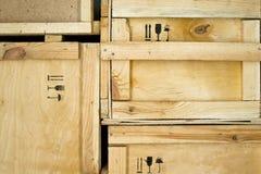 Деревянные коробки Стоковые Фото