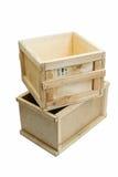 Деревянные коробки Стоковое фото RF