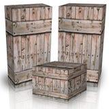 Деревянные коробки Стоковое Изображение
