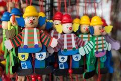 Деревянные куклы марионетки клоунов Стоковые Изображения RF