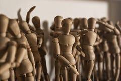 Деревянные куклы для рисовать Стоковое Фото