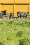 Деревянные кучи паллетов Стоковые Фотографии RF