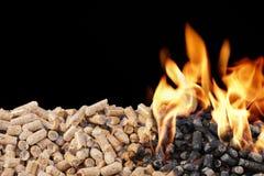 Деревянные лепешки Стоковые Фотографии RF