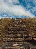 Деревянные лестницы. Стоковое фото RF