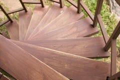Деревянные лестницы Стоковые Изображения