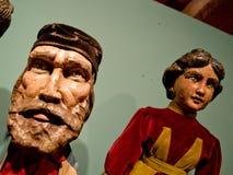 Деревянные марионетки в Бергаме Стоковые Изображения