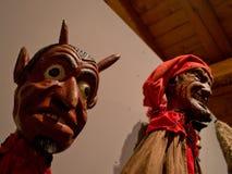 Деревянные марионетки в Бергаме Стоковые Фото