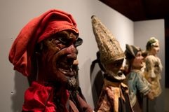 Деревянные марионетки в Бергаме Стоковая Фотография RF