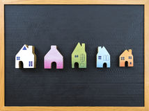 Деревянные миниатюрные собрания дома Стоковая Фотография
