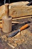 Деревянные мушкел и зубило Стоковые Изображения RF