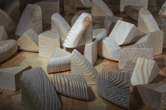 Деревянные ненужные детали стоковое фото