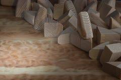 Деревянные ненужные детали стоковое фото rf
