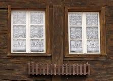 Деревянные окна Стоковое Фото