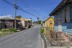 Деревянные дома в Барбадос стоковое фото rf