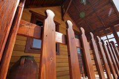 Деревянные дома Стоковое фото RF