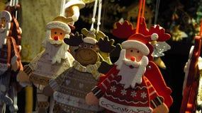 Деревянные орнаменты рождества Стоковые Изображения RF