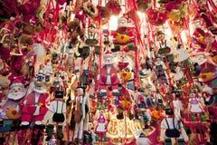 Деревянные орнаменты рождества стоковая фотография