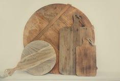 Деревянные доски кухни Стоковое фото RF