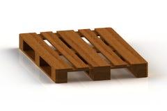 Деревянные паллеты, 3d представляют Стоковое Изображение RF