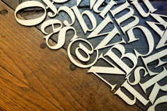 Деревянные письма алфавита Стоковое фото RF