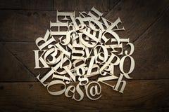 Деревянные письма алфавита Стоковое Изображение RF