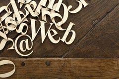 Деревянные письма алфавита Стоковая Фотография
