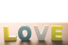 Деревянные письма формируют влюбленность слова Стоковое фото RF