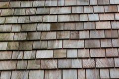 Деревянные плитки гонта Стоковые Фотографии RF