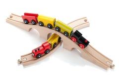 Деревянные поезда игрушки Стоковое фото RF