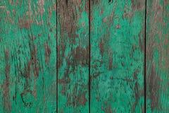 Деревянные покрашенные планки зелеными Стоковые Фотографии RF