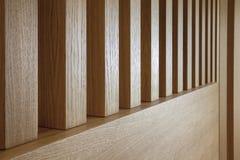 Деревянные предкрылки в перспективе стоковая фотография