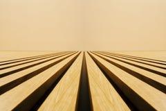 Деревянные предкрылки в перспективе стоковое изображение rf