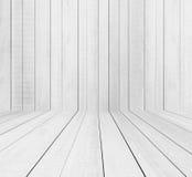 Деревянные предпосылки текстуры, белый деревянный пол с белой стеной стоковые изображения