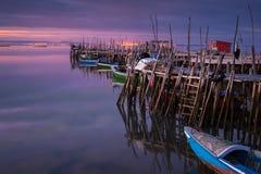 Деревянные пристани Стоковая Фотография RF