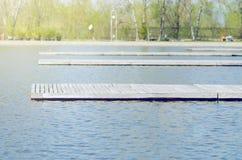 Деревянные пристани Стоковое фото RF