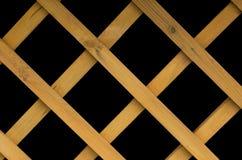 Деревянные планки на черной предпосылке Стоковые Фотографии RF