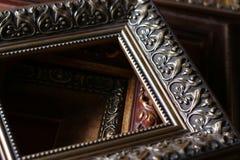 Деревянные рамки багета Стоковое фото RF