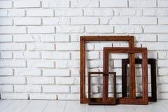 Деревянные рамки Стоковое фото RF